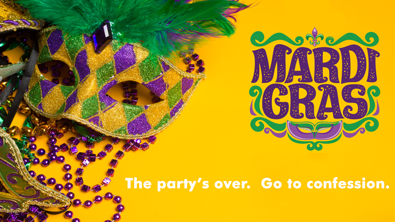 mardi gras party's over