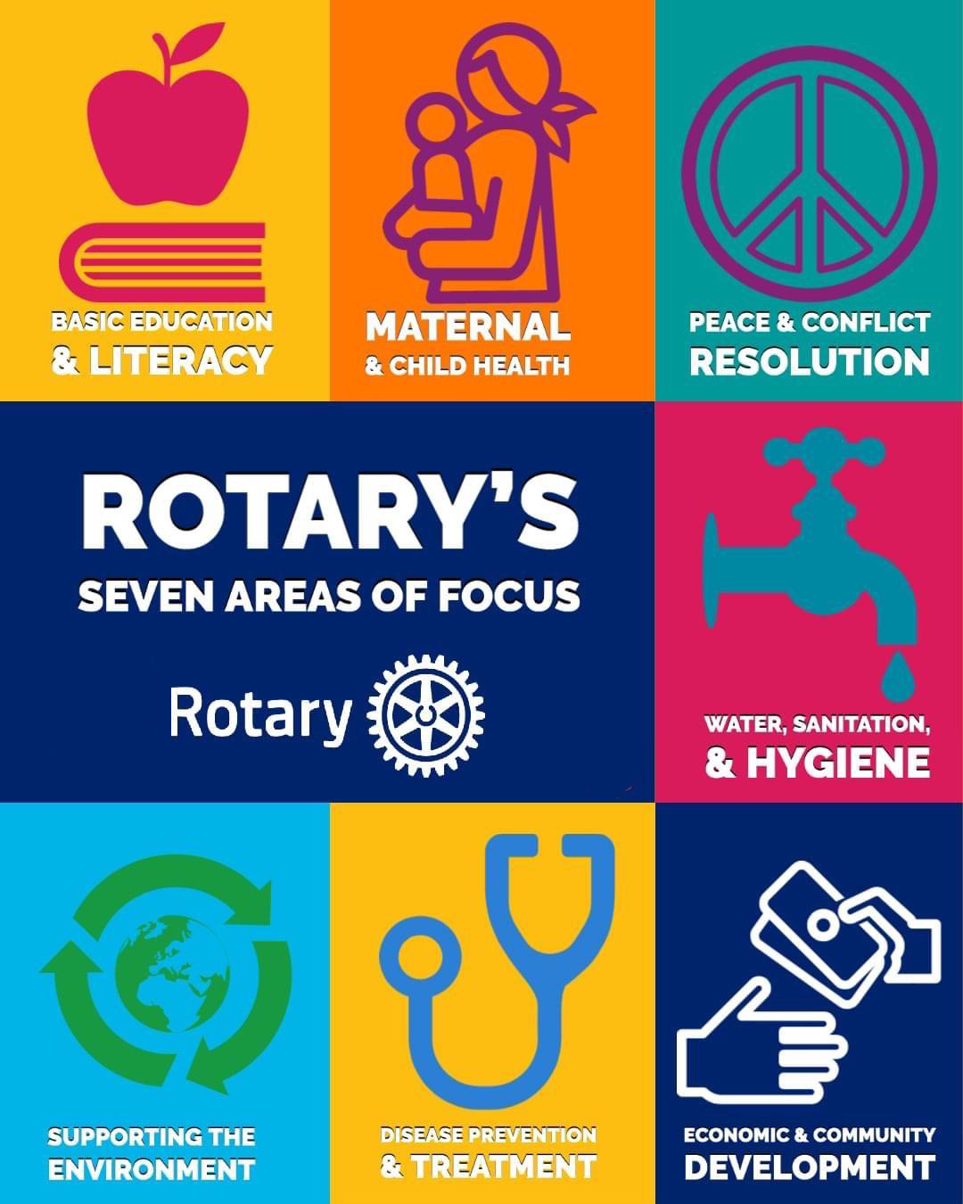 Rotary's 7 Areas of Focus